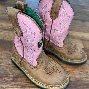Girls Pink John Deere Boots